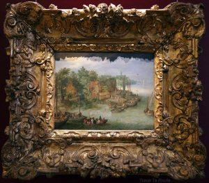 Paysage, rivière et embarquement (1603) Jan BRUEGEL L'ANCIEN - Galleria Sabauda Palazzo Reale Turin