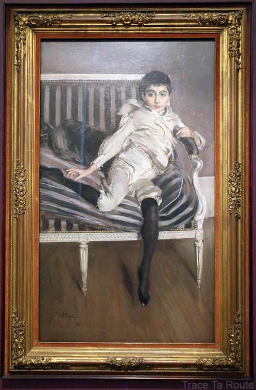 Portait du jeune Subercaseaux (1891) Giovanni BOLDINI - Galleria Sabauda Palazzo Reale Turin