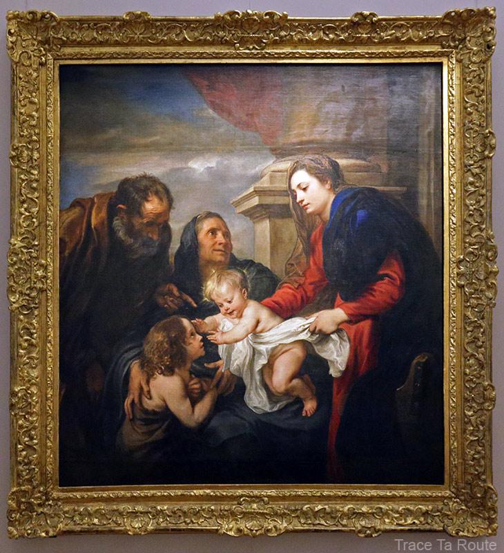 La Sainte Famille avec Sainte-Elisabeth et l'enfant Saint-Jean (1625) Antoine VAN DYCK - Galleria Sabauda Palazzo Reale Turin