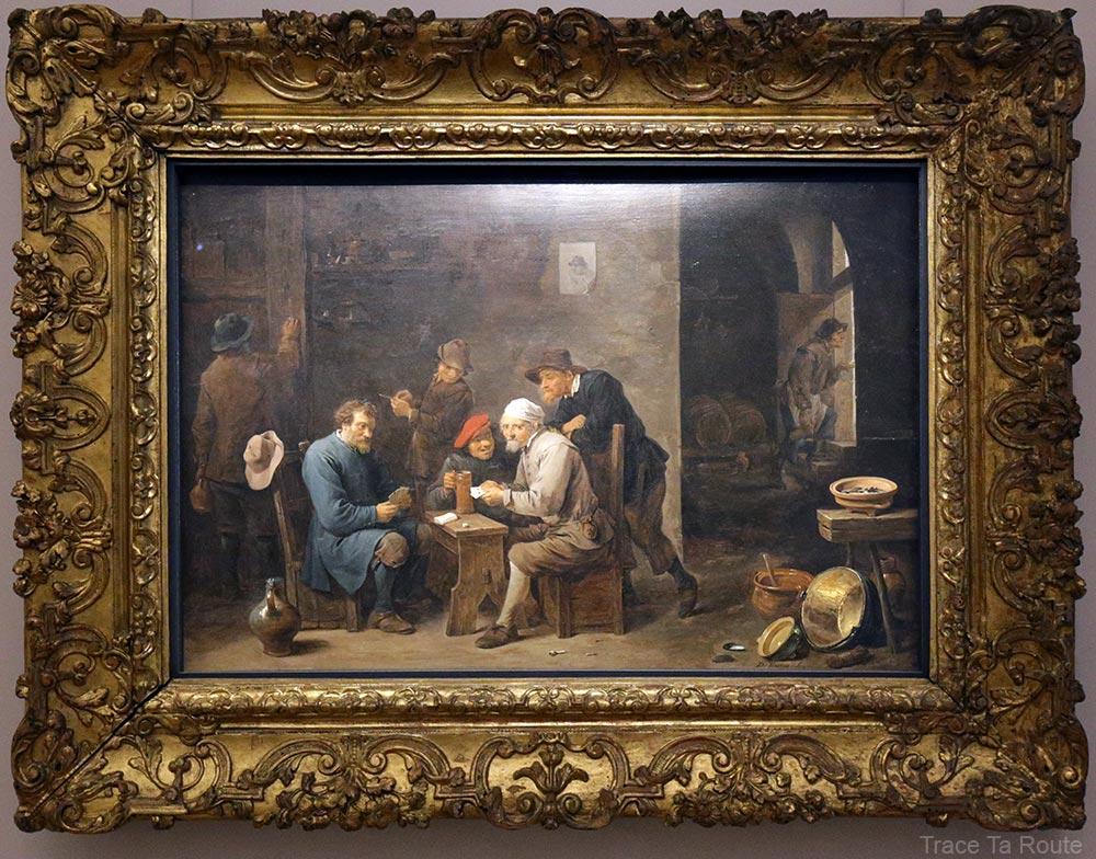Les joueurs de cartes (1651) David TENIERS II - Galleria Sabauda Palazzo Reale Turin