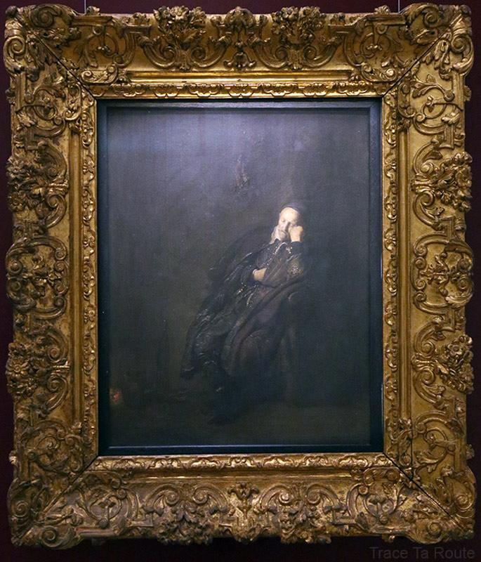 Portrait d'un vieillard dormant (1629) REMBRANDT - Galleria Sabauda Palazzo Reale Turin