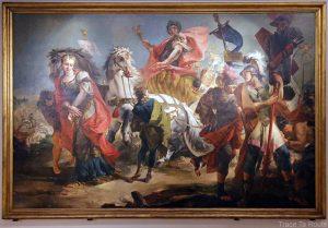 Le triomphe d'Aurèle (1718) Giovanni Battista TIEPOLO - Galleria Sabauda Palazzo Reale Turin