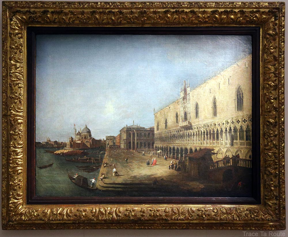 Vue du Palais des doges à Venise (1725) CANALETTO - Galleria Sabauda Palazzo Reale Turin