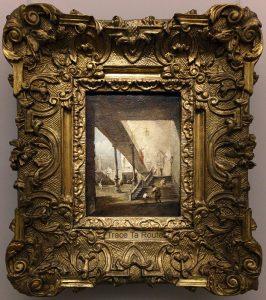 Vue de la cour d'un palais (1780-1785) Francesco GUARDI - Galleria Sabauda Palazzo Reale Turin