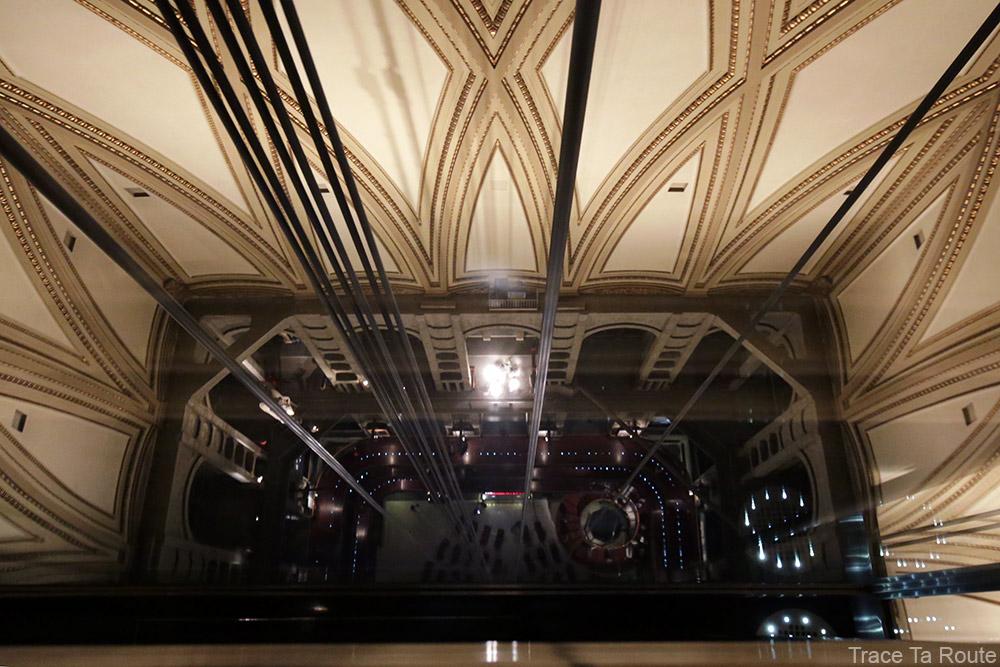 Vue ascenseur voute Mole Antonelliana Musée du Cinéma de Turin - Museo Nazionale del Cinema Torino tempio della Mole