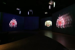 Musée du Cinéma de Turin - projection film lanternes magiques salle Archéologie Histoire du Cinéma - Mole Antonelliana Museo Nazionale del Cinema Torino