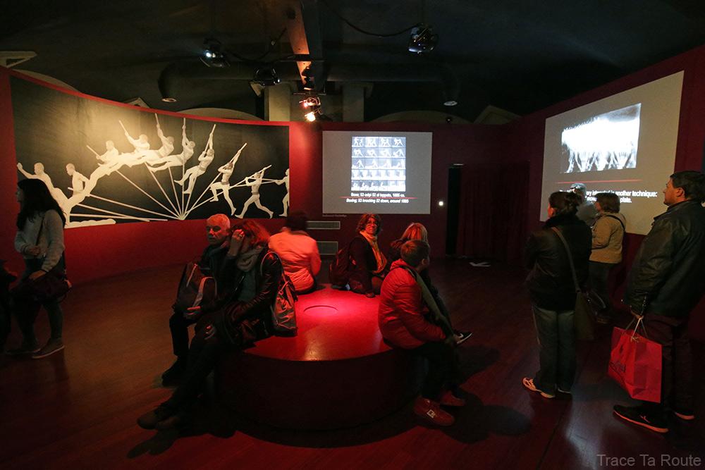 Musée du Cinéma de Turin - salle chronophotographie Étienne-Jules Marey Archéologie Histoire du Cinéma - Mole Antonelliana Museo Nazionale del Cinema Torino