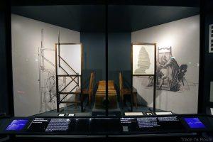 Musée du Cinéma de Turin - machines à dessiner ombre salle Archéologie Histoire du Cinéma - Mole Antonelliana Museo Nazionale del Cinema Torino