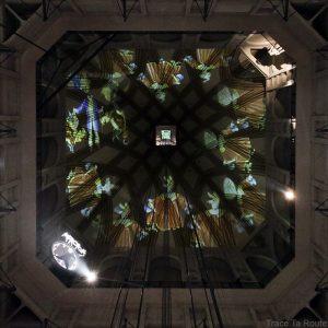 Mole Antonelliana Musée du Cinéma de Turin Museo Nazionale del Cinema Torino - projection sur la voute intérieur dome coupole ascenseur