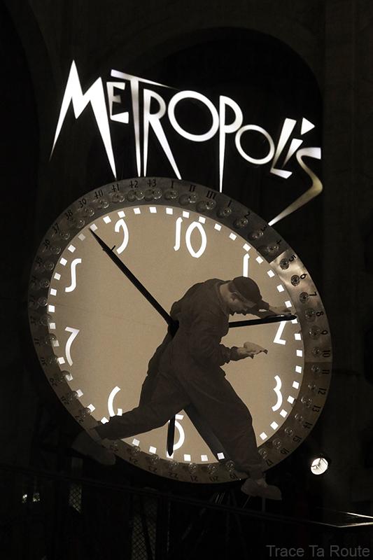 Mole Antonelliana Musée du Cinéma de Turin Museo Nazionale del Cinema Torino - cadran horloge film Metropolis