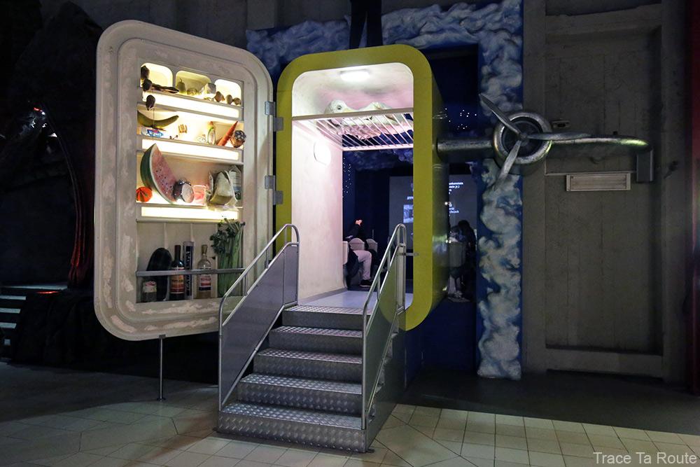 Intérieur Musée du Cinéma de Turin Mole Antonelliana Museo Nazionale del Cinema Torino - entrée frigo salle psychédélique onirique