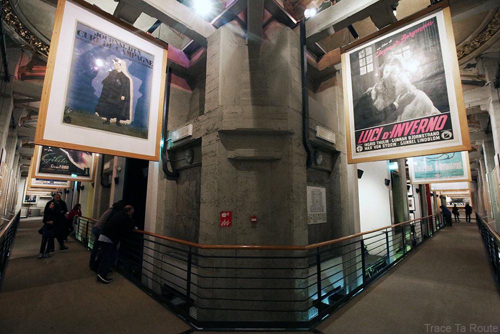 Musée du Cinéma de Turin Museo Nazionale del Cinema Torino Mole Antonelliana - affiches films 5e étage