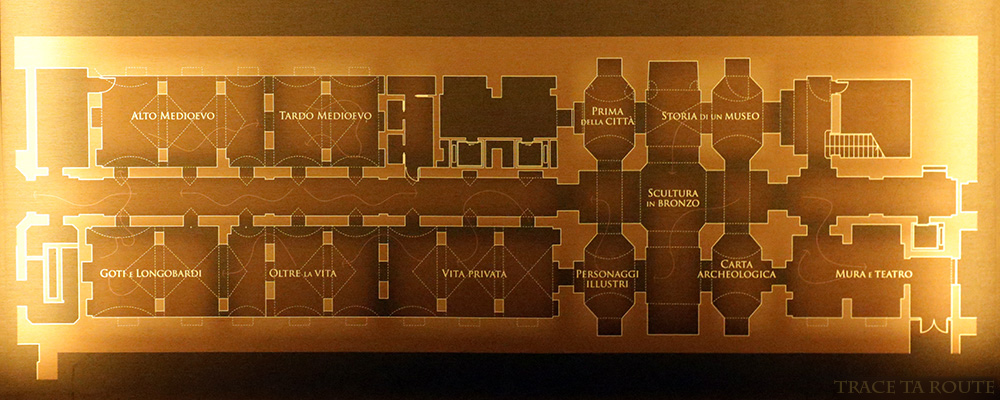 Plan Musée Archéologique Turin - Museo Archeologico Palazzo Reale Torino