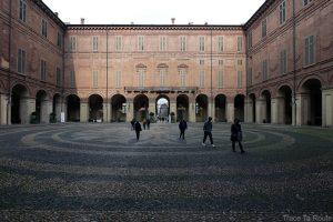 Palais Royal de Turin - cour intérieure pavée Palazzo Reale