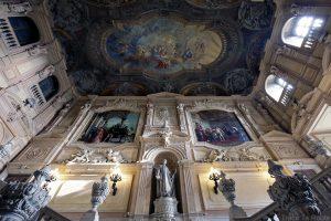 Palazzo Reale Turin - plafond escalier d'honneur du Palais Royal