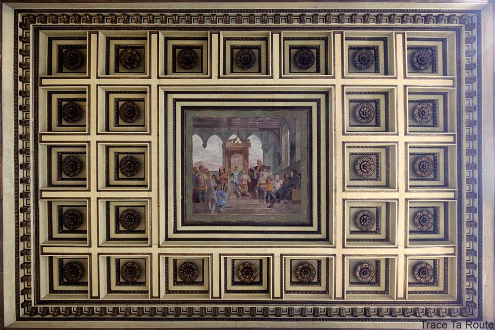 Palazzo Reale Turin - plafond du Salon de la Garde Suisse du Palais Royal
