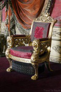 Palazzo Reale Turin - Trône des Ducs de Savoie du Palais Royal