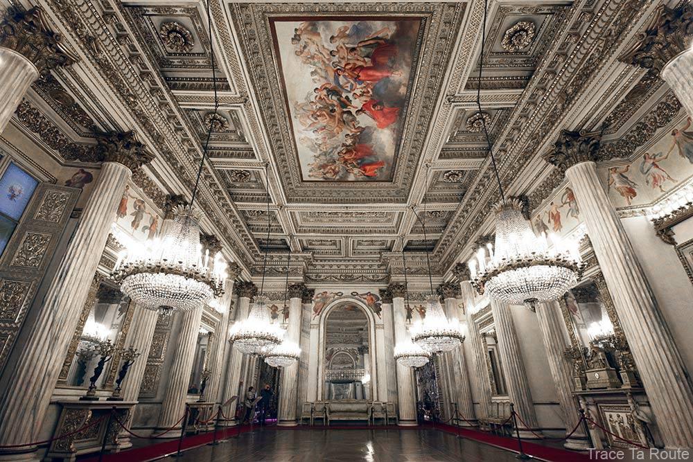 Palazzo Reale Turin - plafond salle de bal du Palais Royal