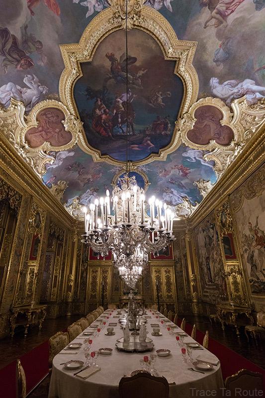 Palazzo Reale Turin - plafond salle à manger du Palais Royal