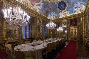 Palazzo Reale Turin - salle à manger du Palais Royal
