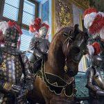 Palazzo Reale Turin - armures et cheval de la salle d'armes Armeria Reale du Palais Royal