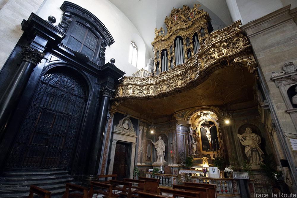 Intérieur Cathédrale Saint-Jean-Baptiste de Turin - orgue Duomo di Torino