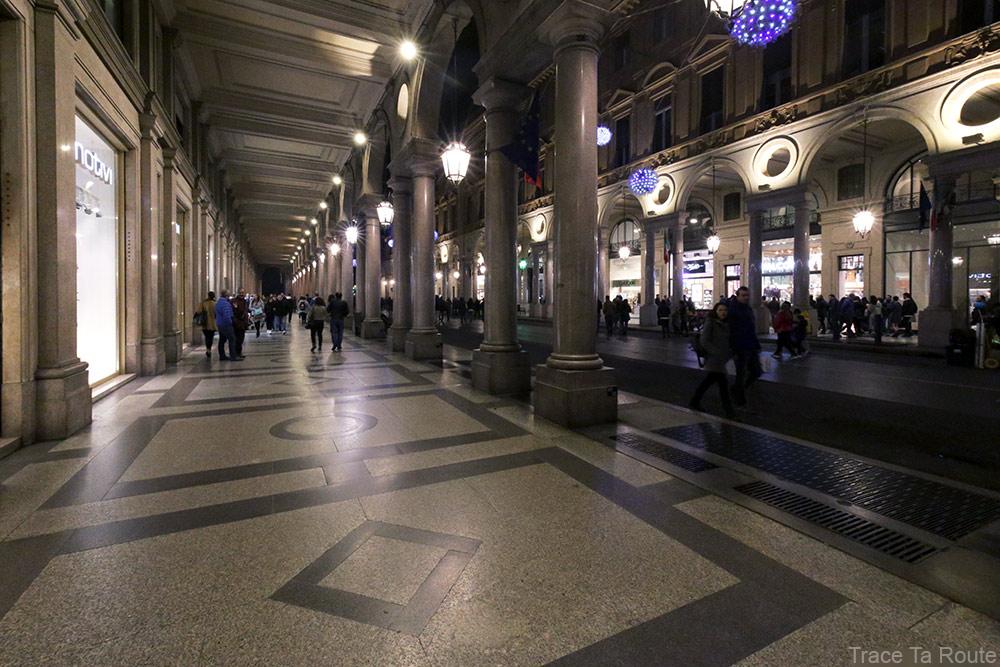 Arcades de la Via Roma de Turin
