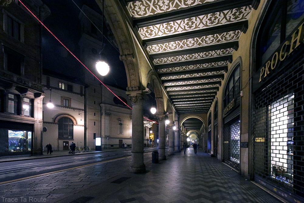 Arcades de la Via Pietro Micca à Turin