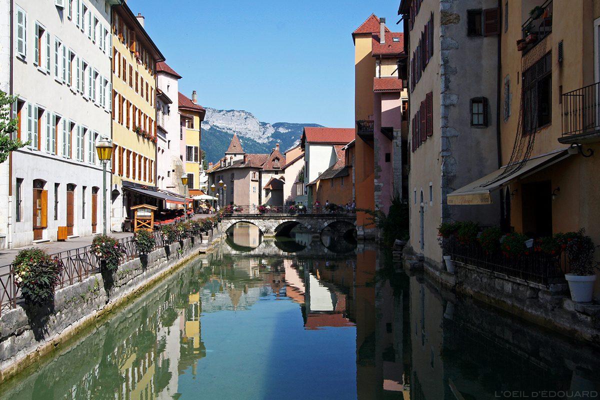 Le Canal du Thiou dans la Vieille Ville d'Annecy © L'Oeil d'Édouard