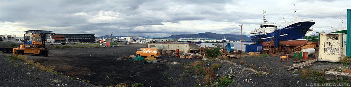 Le Port de Reykjavik, Islande © L'Oeil d'Édouard