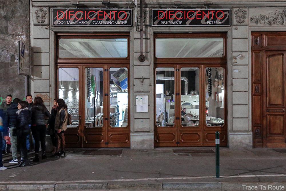 Restaurant pizzeria Diecicento Torino à Turin