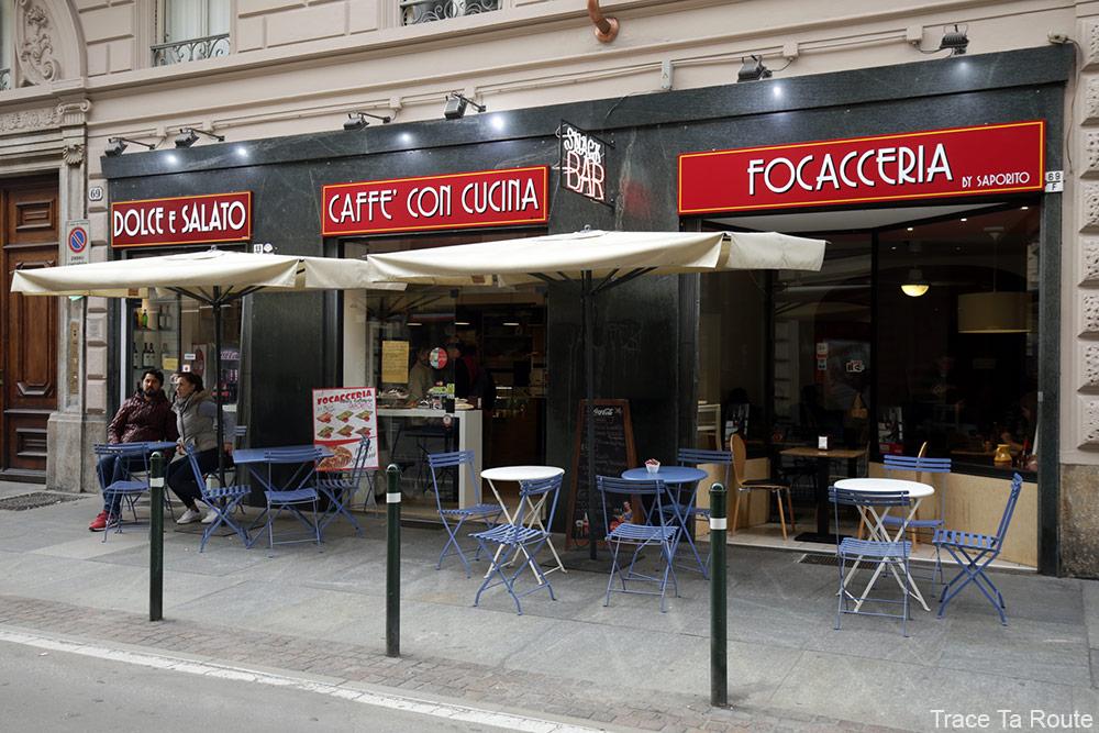 Restaurant snack Focacceria Caffè Saporito Torino à Turin