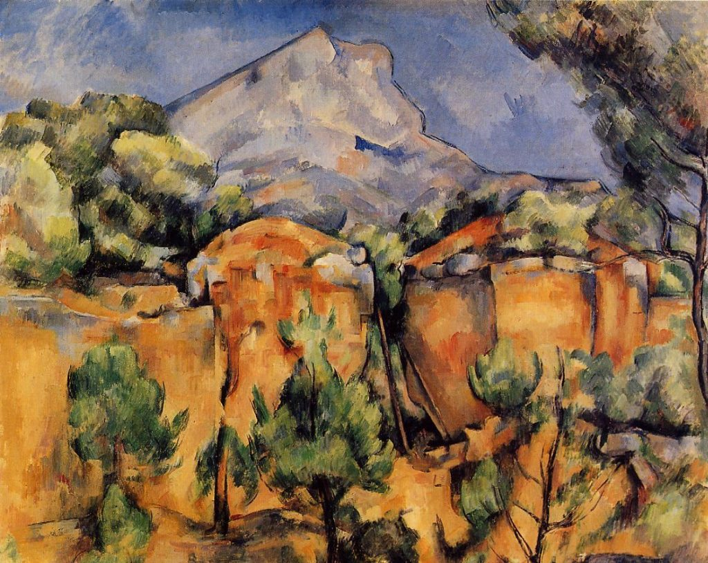 La Montagne Sainte-Victoire vue de la carrière Bibémus (vers 1897) Paul CÉZANNE