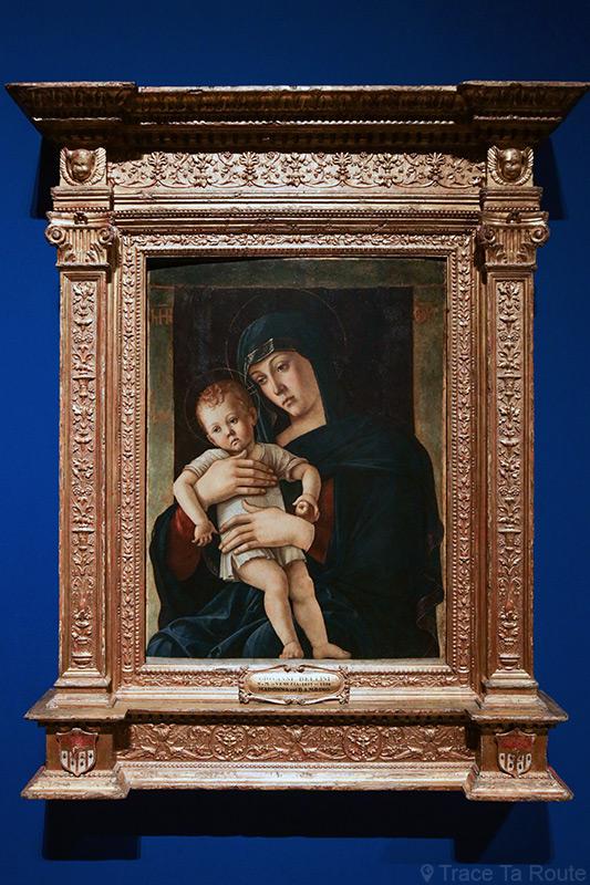 """""""Vierge à l'Enfant"""" (1460-1465) Giovanni BELLINI - Pinacothèque de Brera, Milan"""