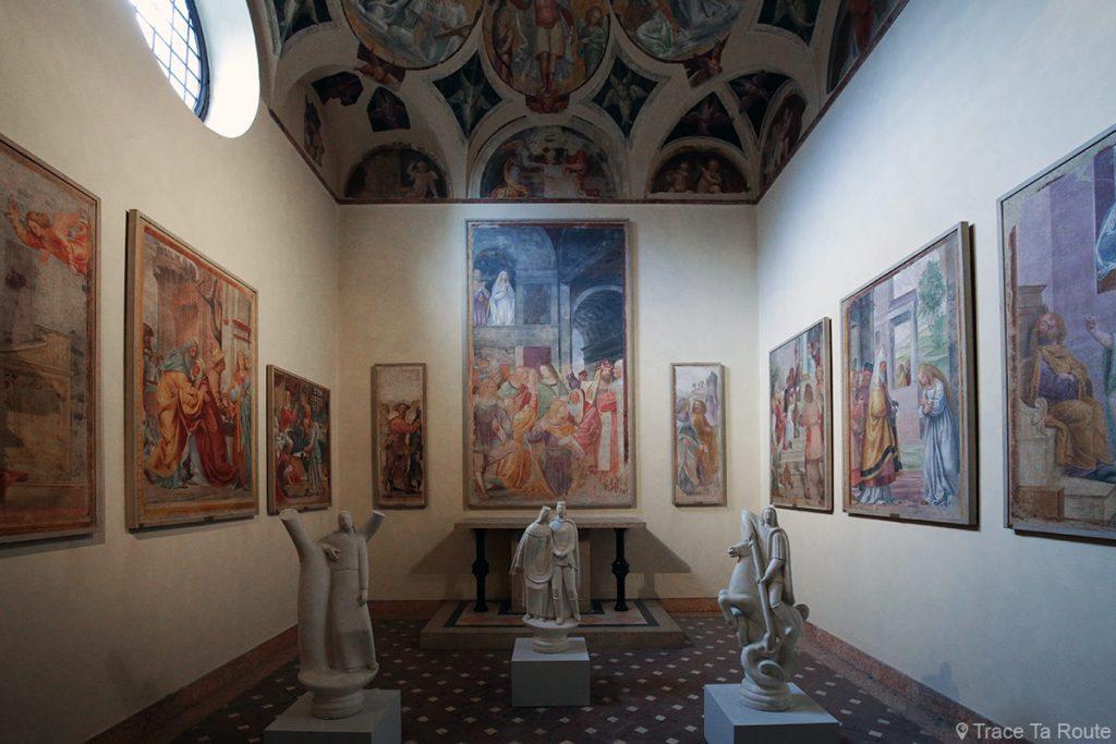 Salle exposition Musée Pinacothèque de Brera de Milan - Fresques Bernardino LUINI