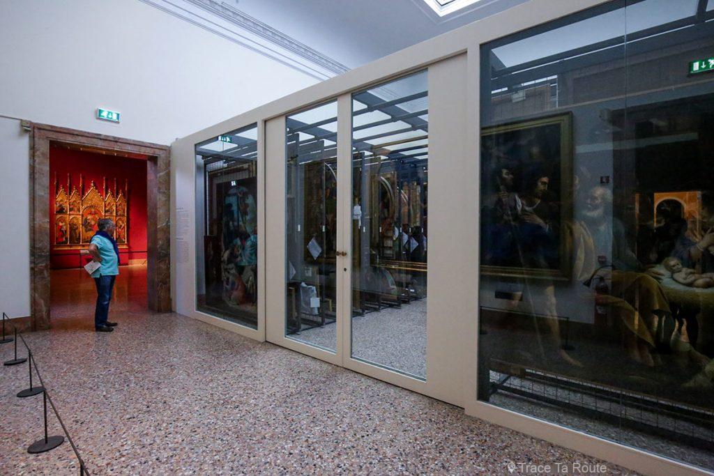 Salle réserve tableaux Pinacothèque de Brera de Milan