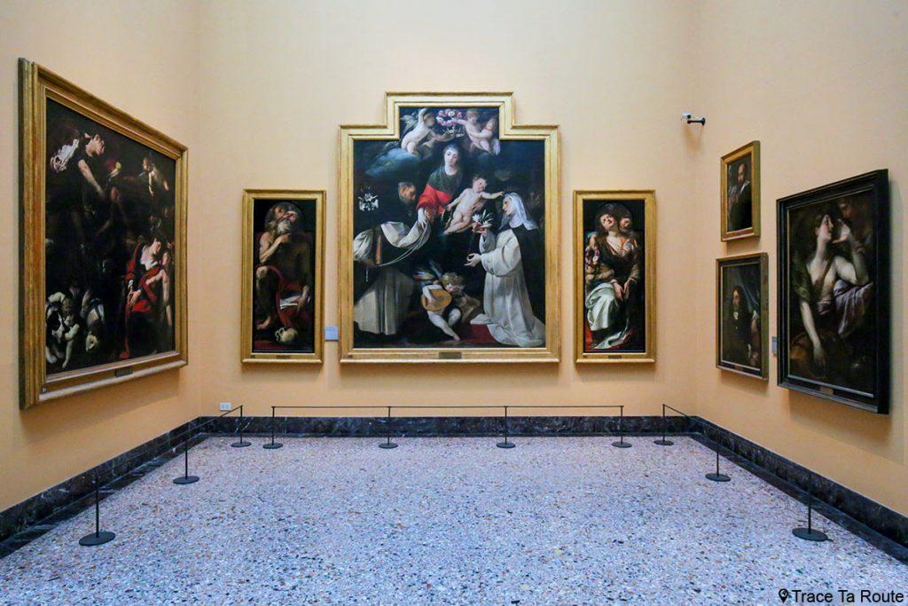 """""""La Madonna del Rosario"""" (1618-1625) CERANO (Giovan Battista Crespi) - Salle exposition Musée Pinacothèque de Brera de Milan - Peintures XVIIe siècle"""
