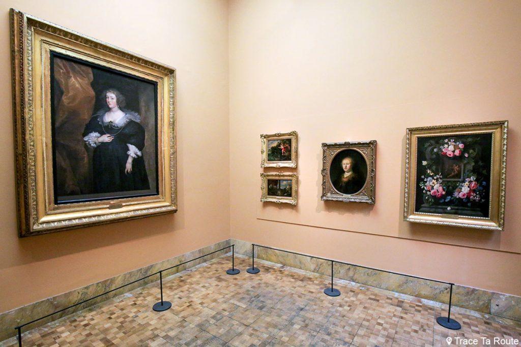 """Portrait d'une femme"" (1630-1640) Antoon VAN DYCK - Salle exposition Musée Pinacothèque de Brera de Milan - Peintures XVIIe siècle"