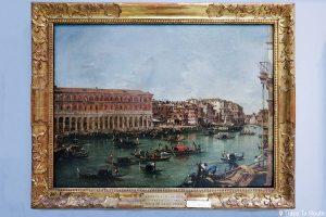 """""""Vue du Grand Canal"""" (1756-1760) Francesco GUARDI - Pinacothèque de Brera, Milan"""