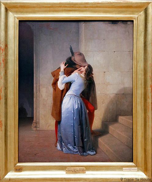 """""""Le Baiser"""" (1859) Francesco HAYEZ - Pinacothèque de Brera, Milan"""
