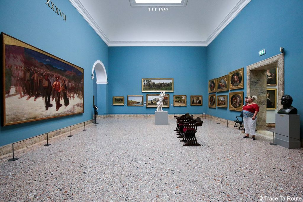 """Fiumana"" (1895-1896) Pellizza da VOLPEDO - Salle exposition Musée Pinacothèque de Brera de Milan - Peintures XIXe siècle"