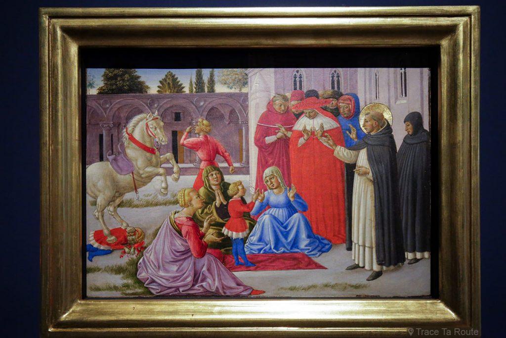 """""""Saint-Dominique ressuscite Napoléon Orsini"""" (1461-1462) Benozzo GOZZOLI - Pinacothèque de Brera, Milan"""