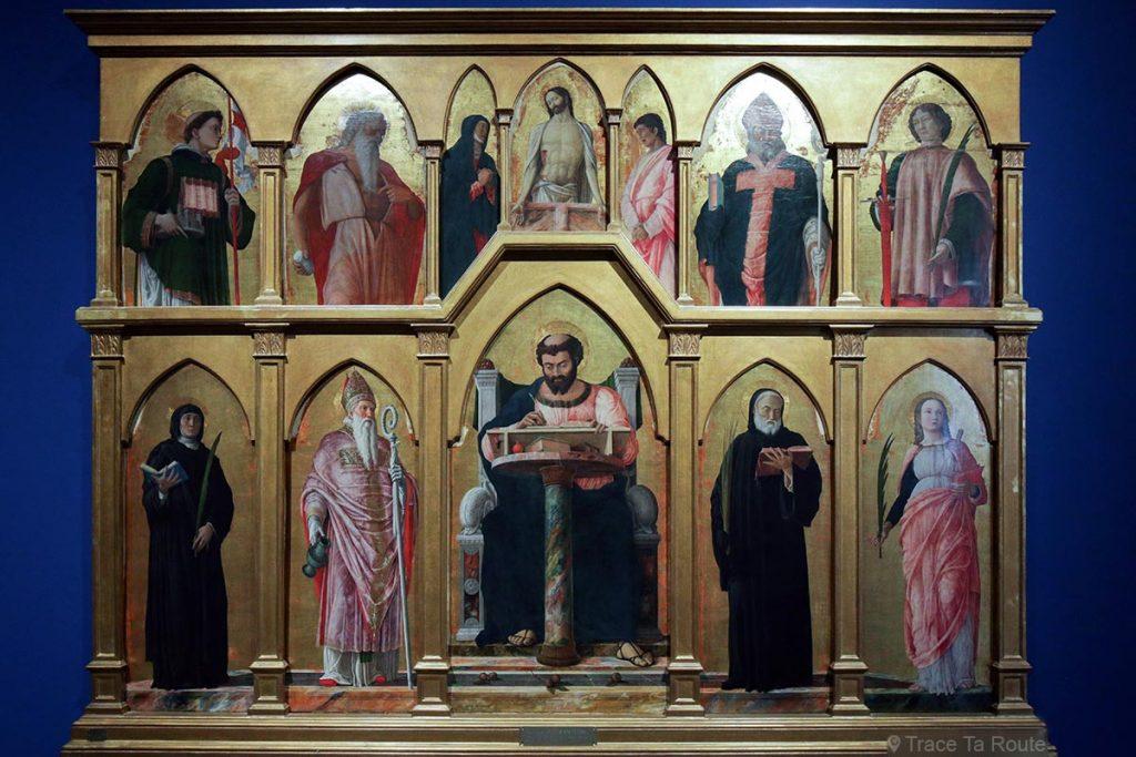 """""""Polyptyque de Saint-Luc"""" (1453-1455) Andrea MANTEGNA - Pinacothèque de Brera, Milan"""