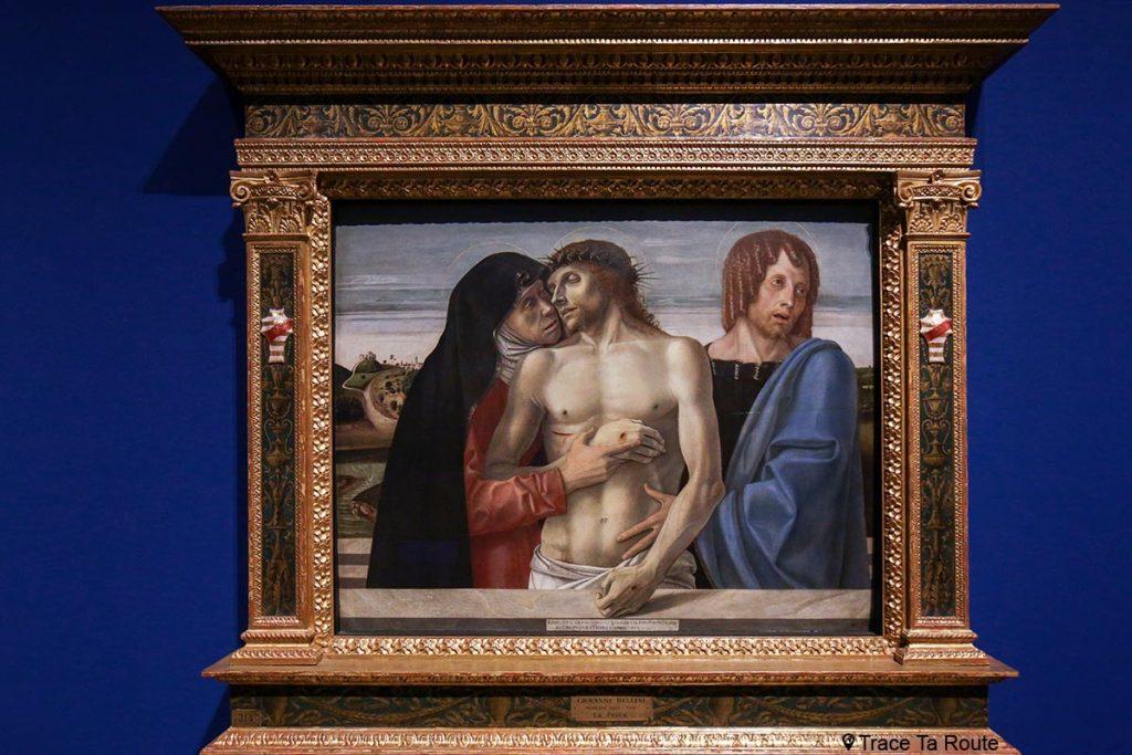 """""""Pietà"""" (vers 1460) Giovanni BELLINI - Pinacothèque de Brera, Milan"""