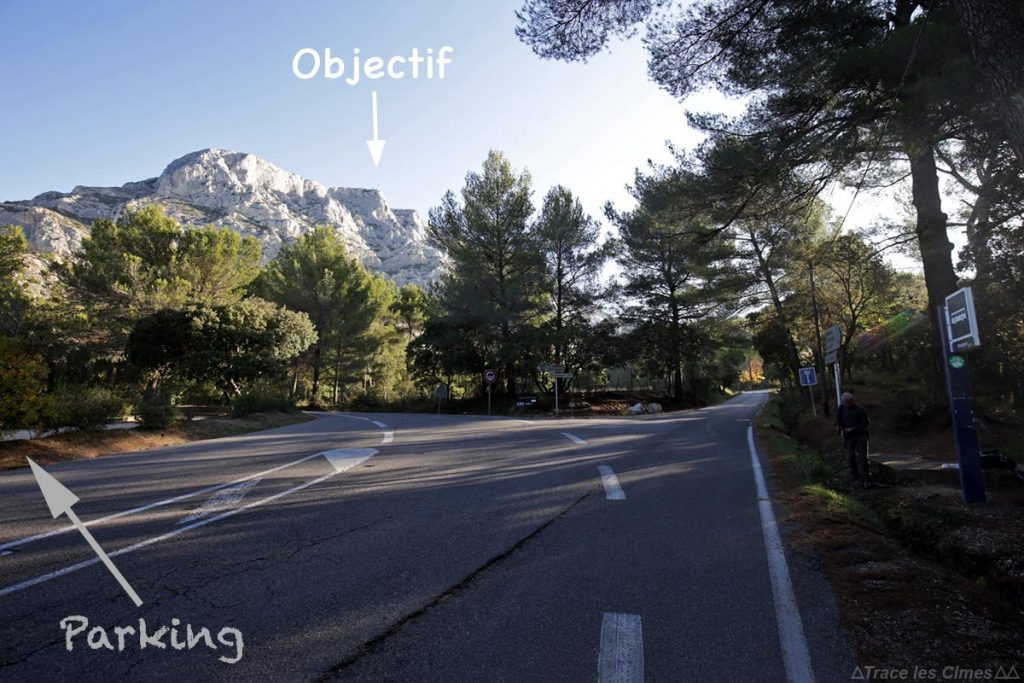 Arrêt de bus Parking de l'En Chois - départ randonnée Montagne Sainte-Victoire