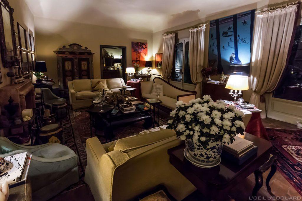 Salon Intérieur Hôtel de charme Asilo Masi B&B Country House à Capannoli (Valdera, Toscane, Italie) VIP Teatro del Silenzio Andrea Bocelli
