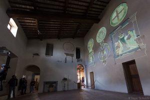 Fresques salle visite Château de Lari, Castello dei Vicari (Valdera, Toscane, Italie)