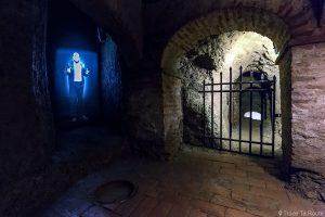 Sous-sol visite Château de Lari, Castello dei Vicari (Valdera, Toscane, Italie)