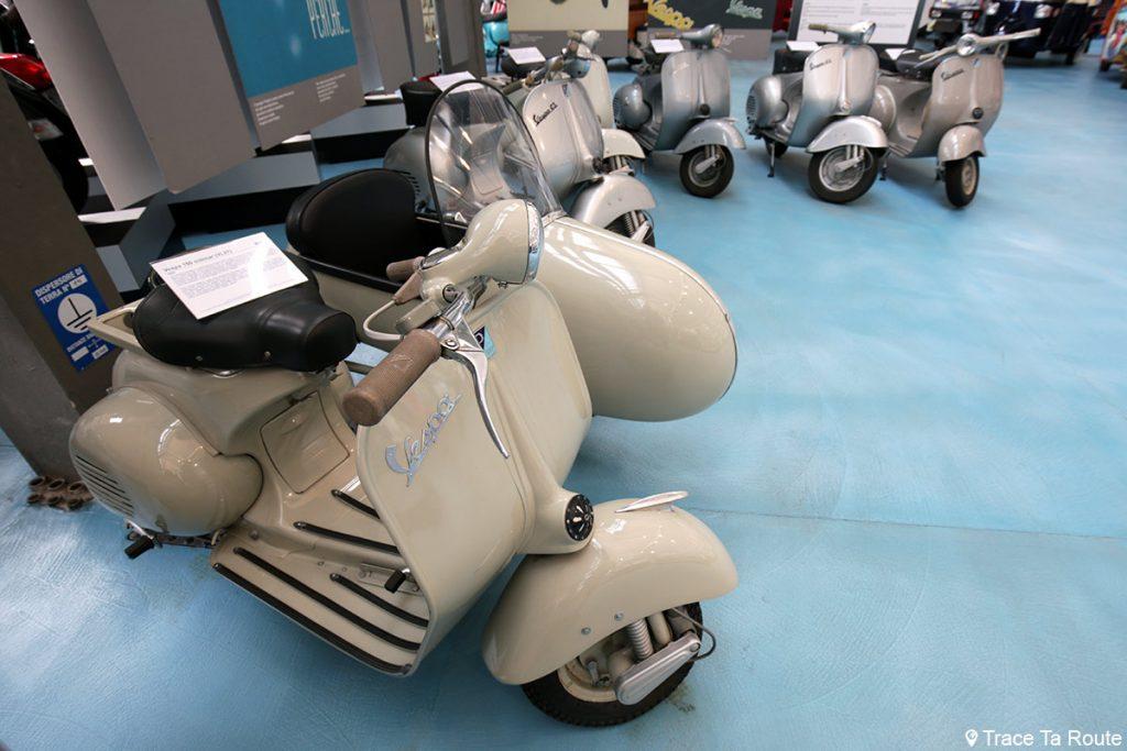 Vespa 150 sidecar Museo Piaggio Pontedera (Pisa, Valdera, Toscana, Italie) Musée Piaggio à Pontedera