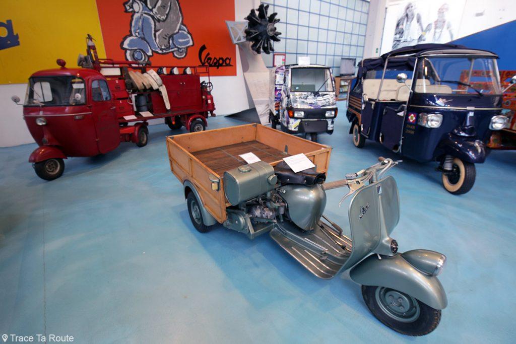 Tricycle Ape Piaggio - Museo Piaggio Pontedera (Pisa, Valdera, Toscana, Italie) Musée Piaggio à Pontedera